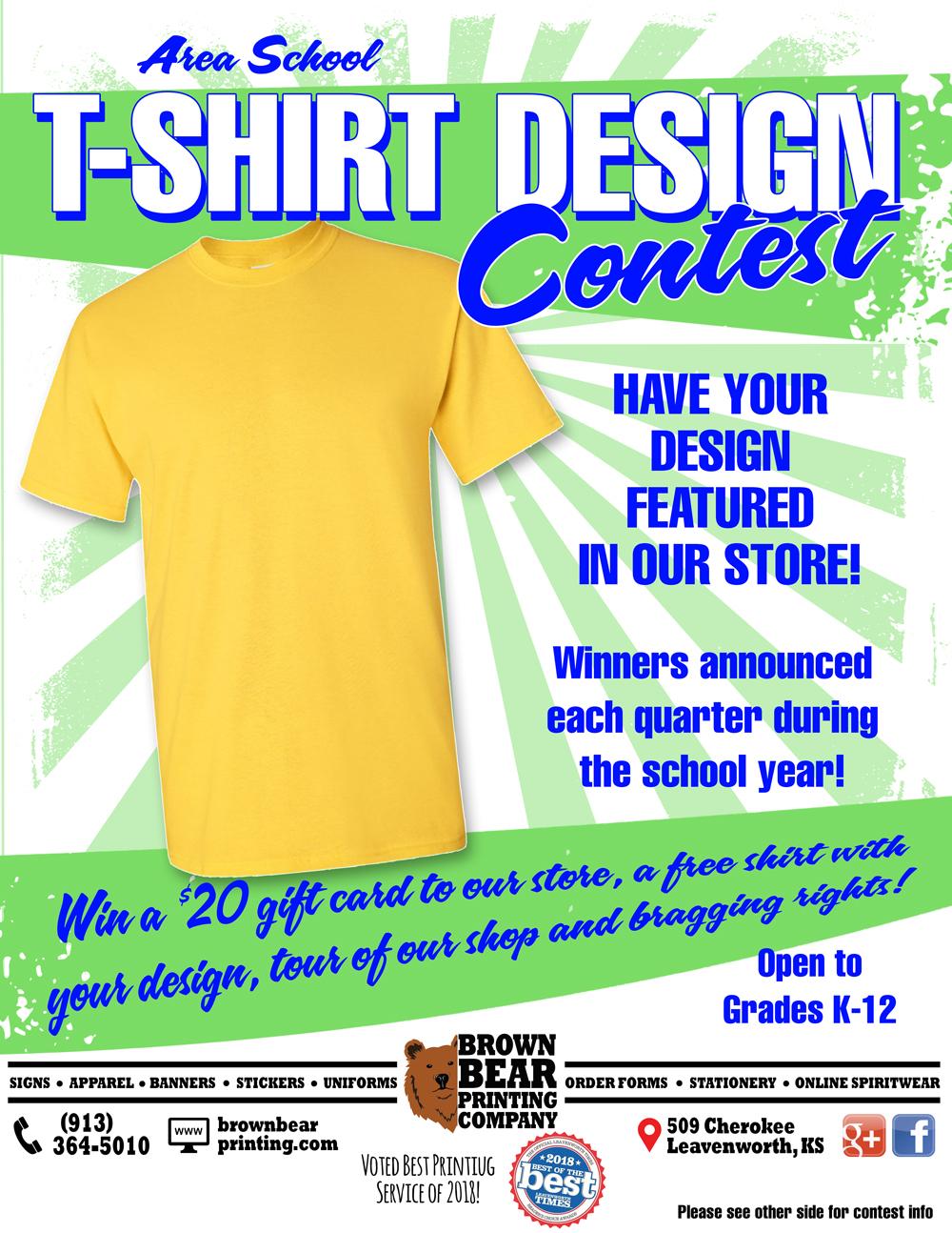 T Shirt Design Contest Brown Bear Printing Screen Printing